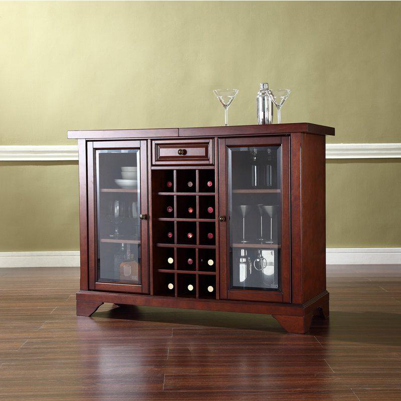 Crosley Kf40002bma Lafayette Sliding Top Bar Cabinet In