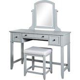 Peachy Crosley Kf60008Gy Vista Bedroom Vanity Mirror Stool In Alphanode Cool Chair Designs And Ideas Alphanodeonline