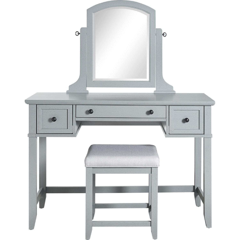 Super Vista Bedroom Vanity Mirror Stool In Vintage Grey Finish By Crosley Alphanode Cool Chair Designs And Ideas Alphanodeonline