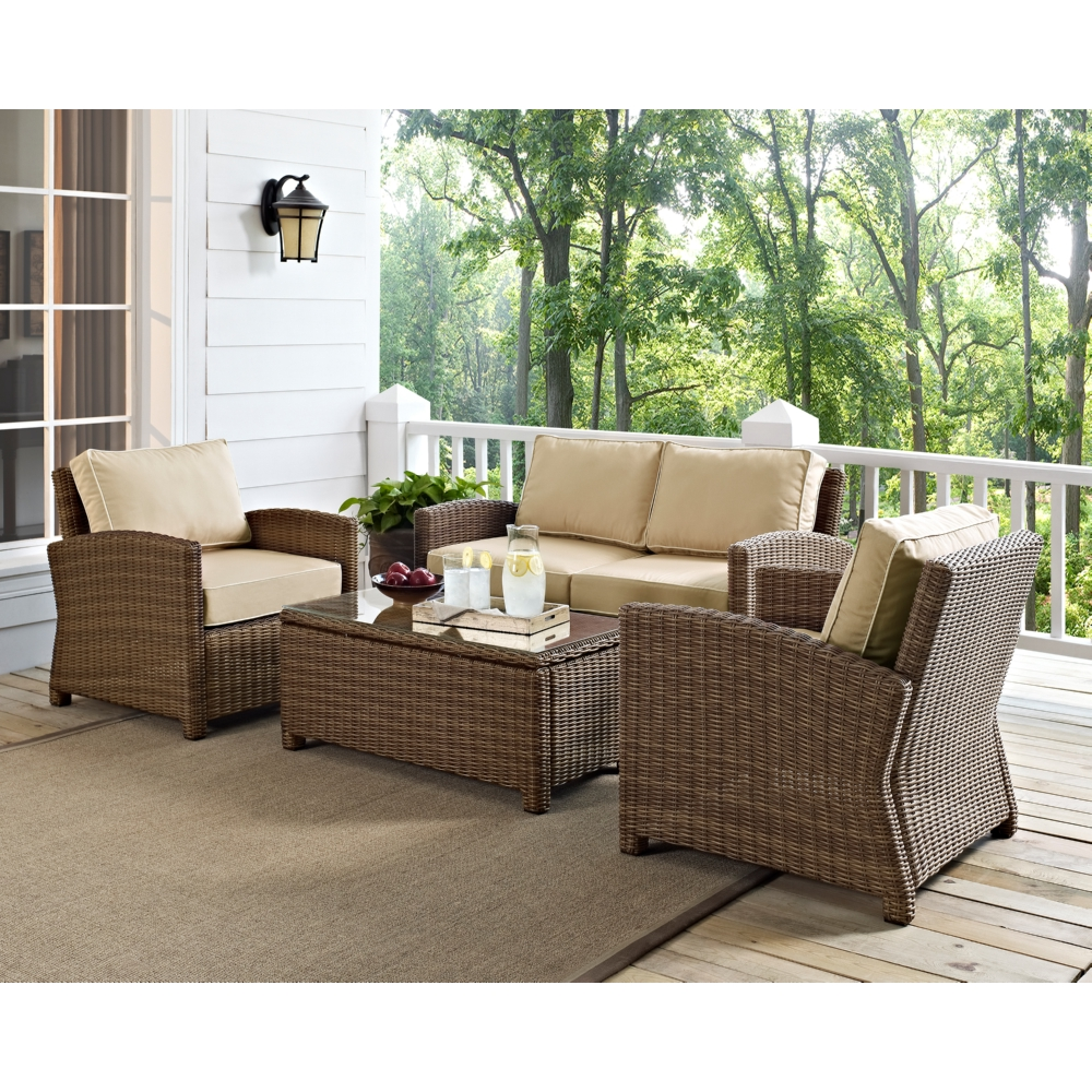 Ideas For Outdoor Living Wicker Outdoor Furniture Blue