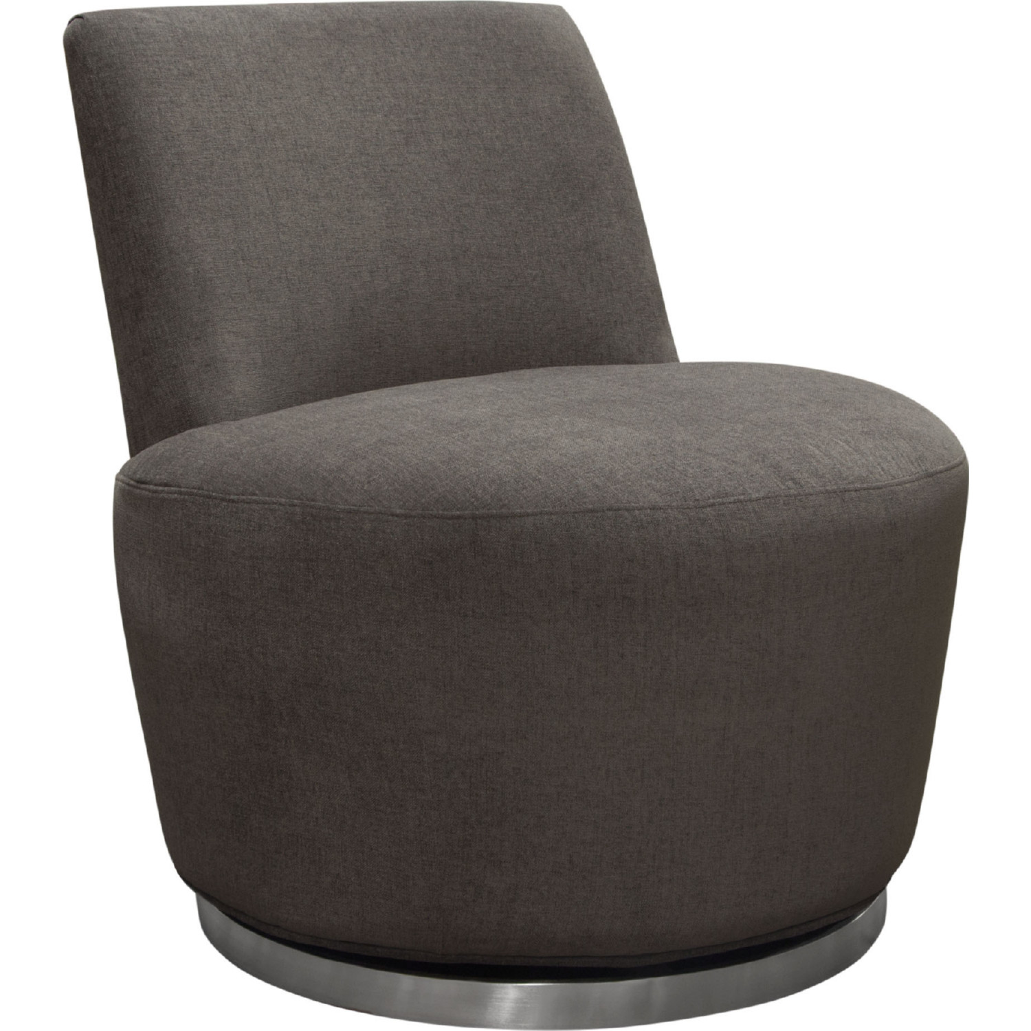 Stupendous Blake Swivel Armless Chair In Iron Fabric On Brushed Stainless By Diamond Sofa Uwap Interior Chair Design Uwaporg