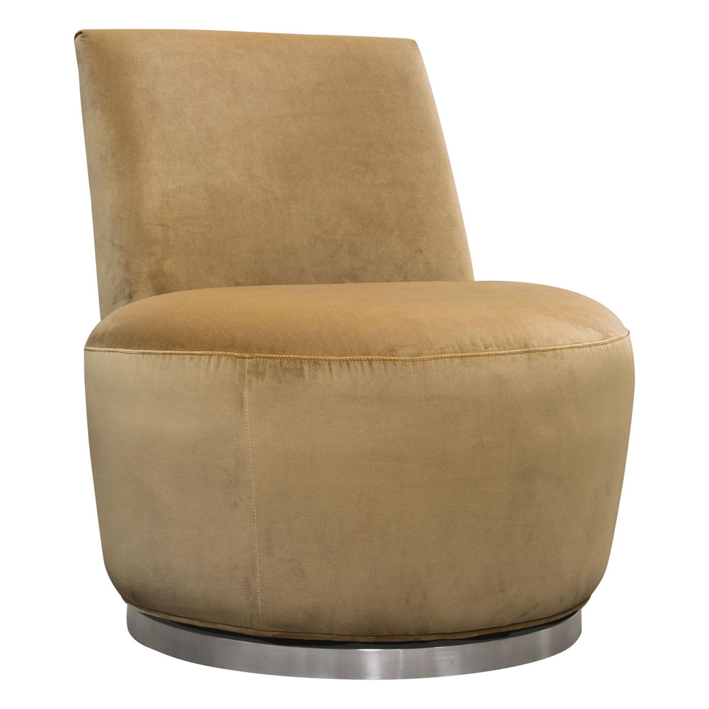 Groovy Blake Swivel Armless Chair In Marigold Velvet On Polished Stainless By Diamond Sofa Creativecarmelina Interior Chair Design Creativecarmelinacom