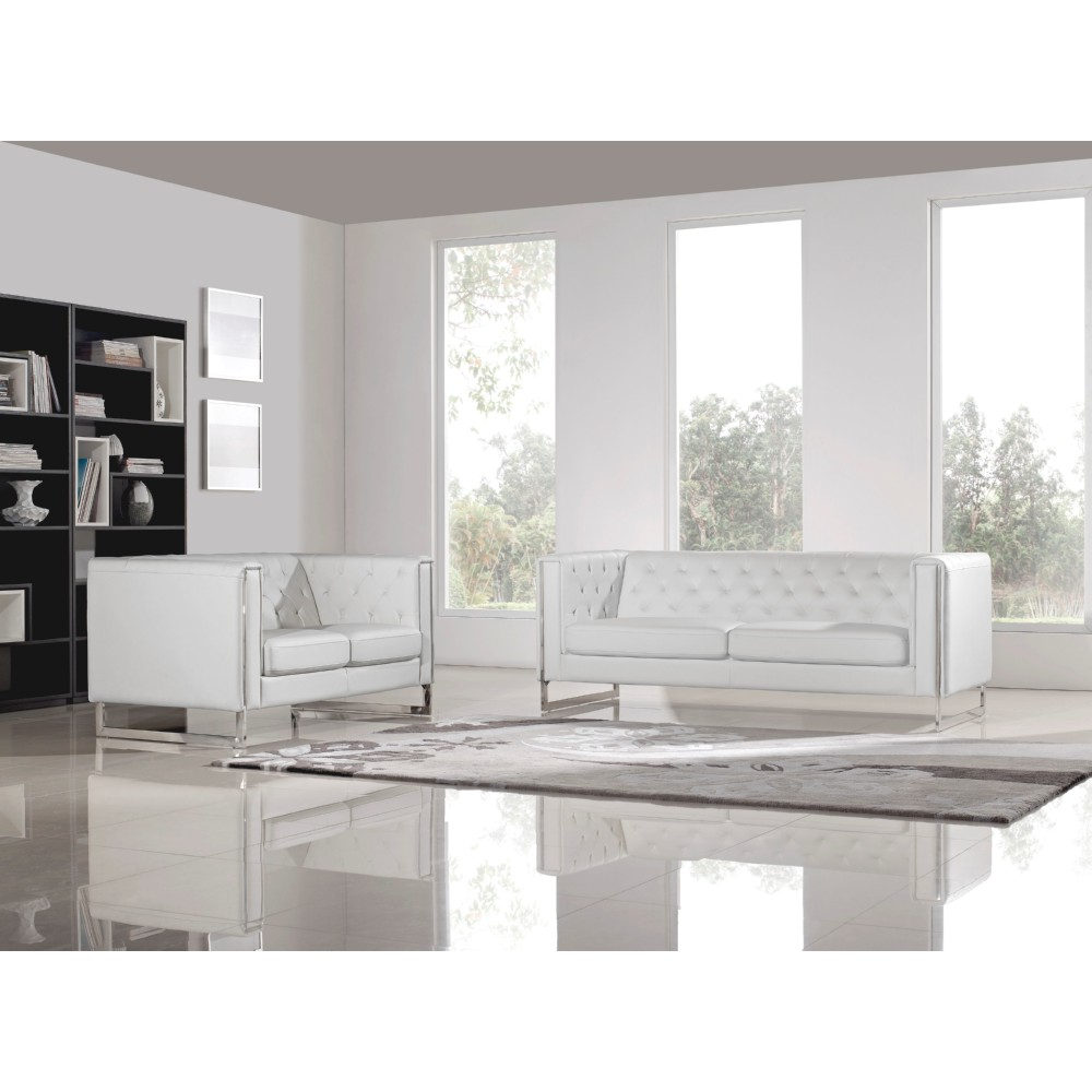 Diamond Sofa CHELSEASLWH Chelsea Sofa & Loveseat 2 Piece Set in ...