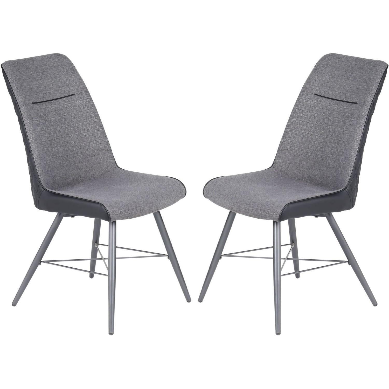 Superb Chloe Dining Chair In Grey Fabric Tufted Black Leatherette Set Of 2 By Diamond Sofa Customarchery Wood Chair Design Ideas Customarcherynet
