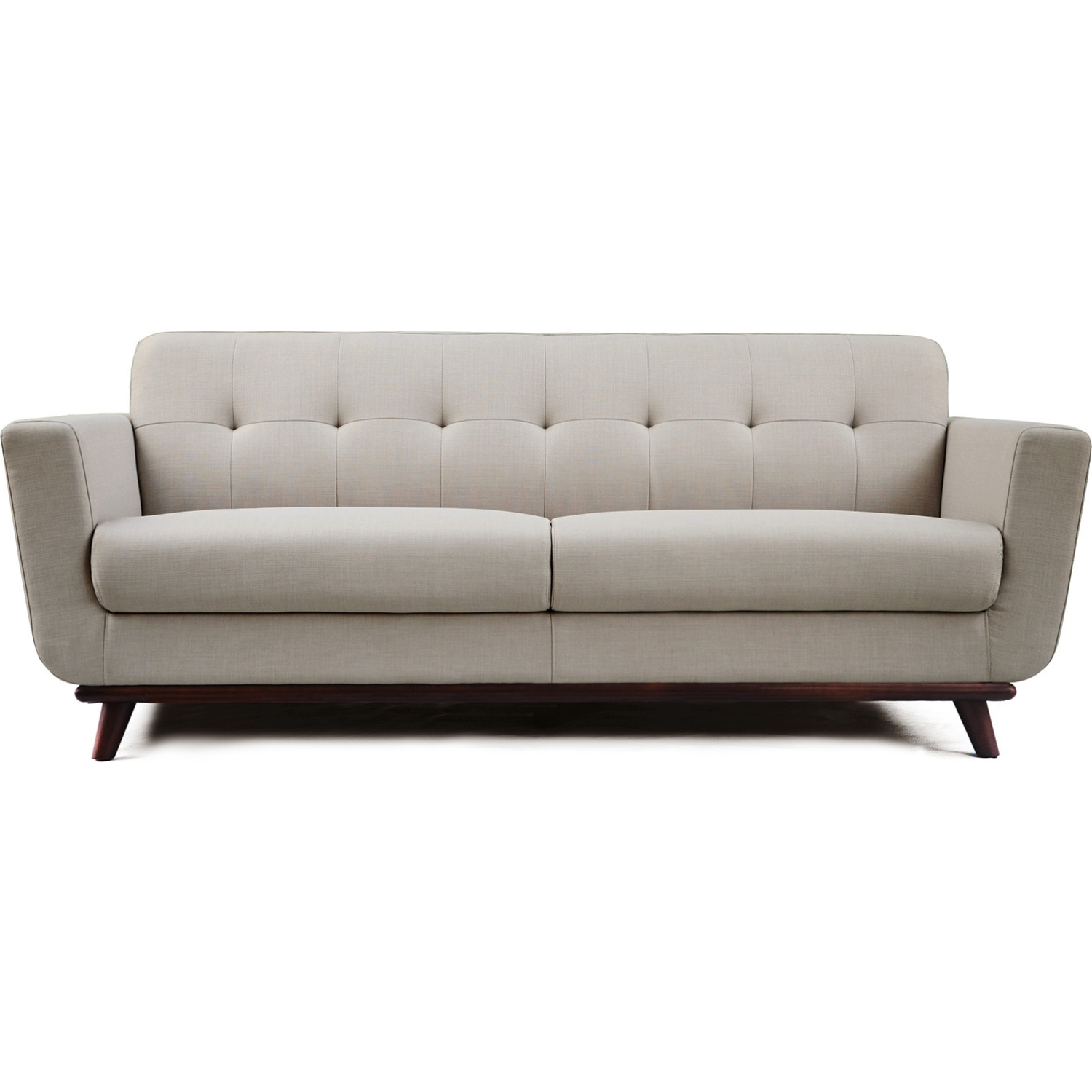 Diamond Modern White Leather U Shaped Sectional Sofa W: Diamond Sofa COCOSOSA Coco Sofa In Tufted Sand Fabric W