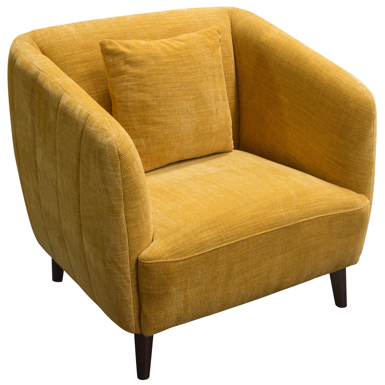 Diamond Sofa Delucachdy Deluca Accent Chair In Dijon Yellow Fabric