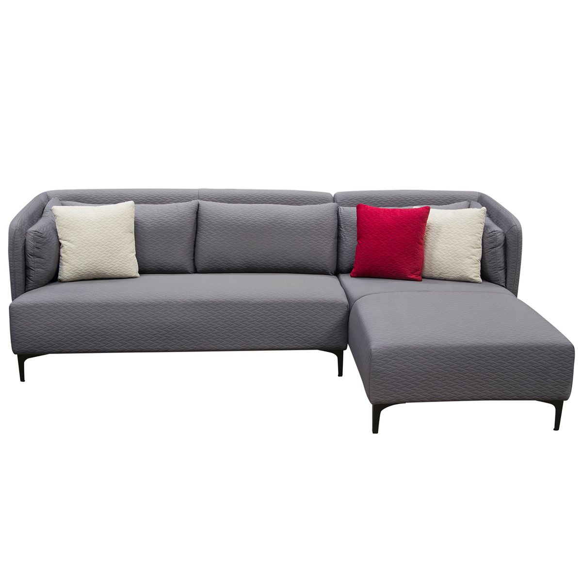 Diamond Sofa Dylanrf2pcsectgr Dylan Sectional Sofa W Right Facing