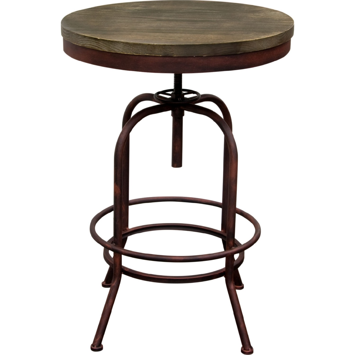 Enjoyable Fairfax Adjustable Height Bistro Table W Weathered Brown Top On Rust Black Iron Base By Diamond Sofa Alphanode Cool Chair Designs And Ideas Alphanodeonline