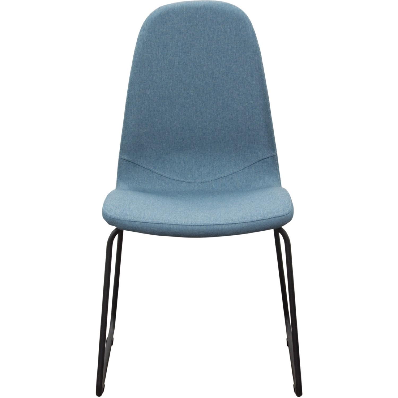 Diamond Sofa FINNDCBU2PK Finn Dining Chairs in Denim Blue Fabric w