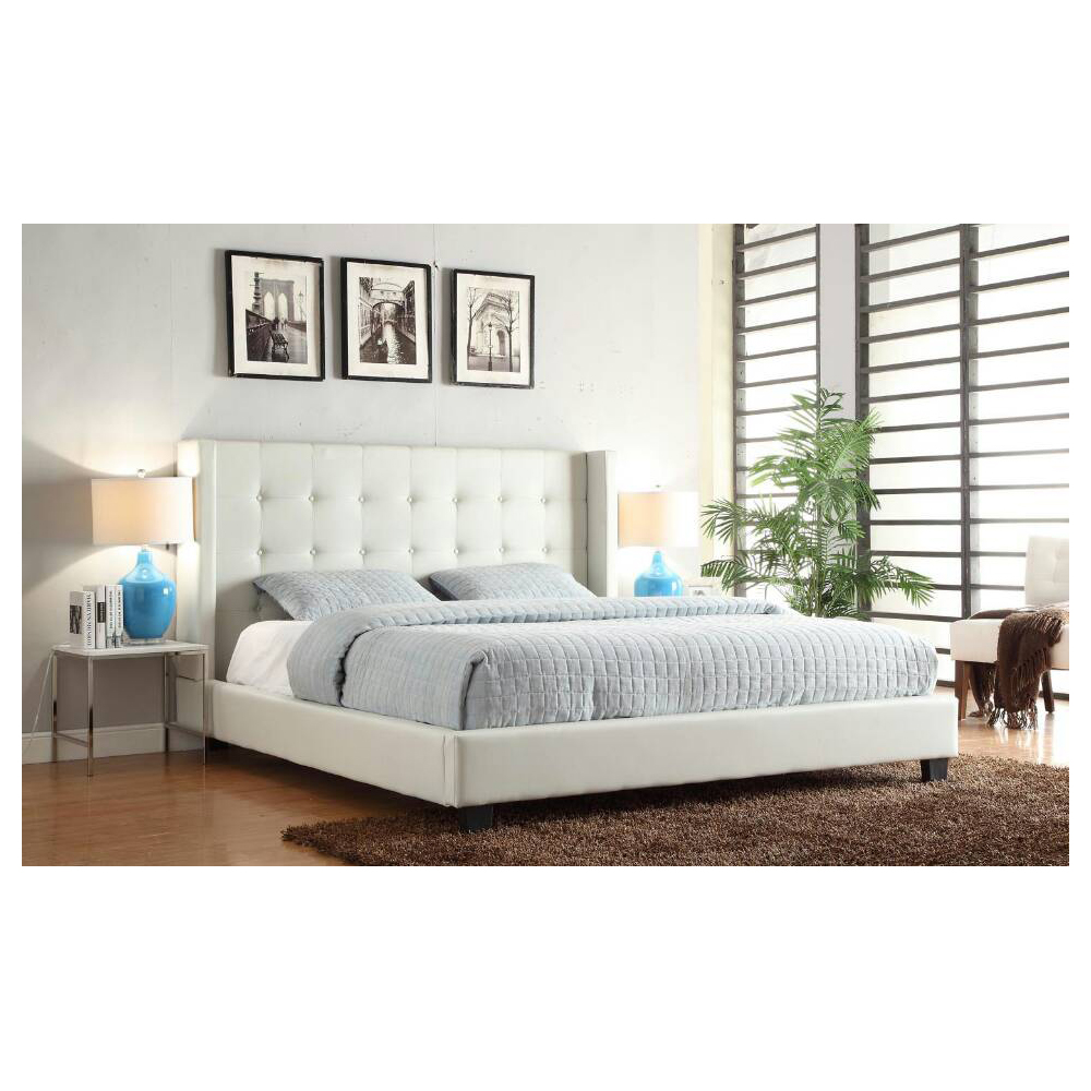 Diamond Sofa Madisonwhqubed Madison Tufted Queen Bed W Tapered