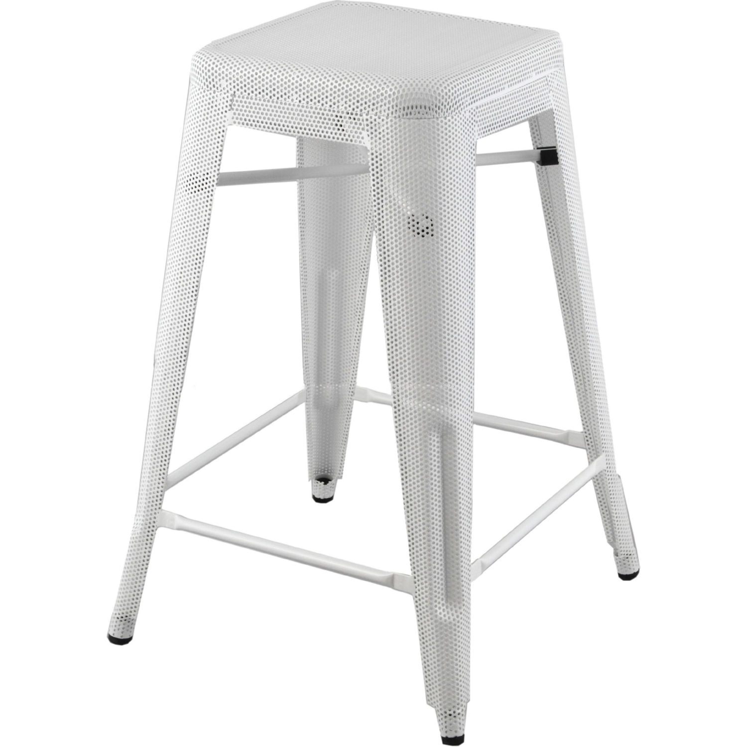 Stupendous Mesh Perforated Metal Backless Counter Stool In White Painted Finish By Diamond Sofa Andrewgaddart Wooden Chair Designs For Living Room Andrewgaddartcom