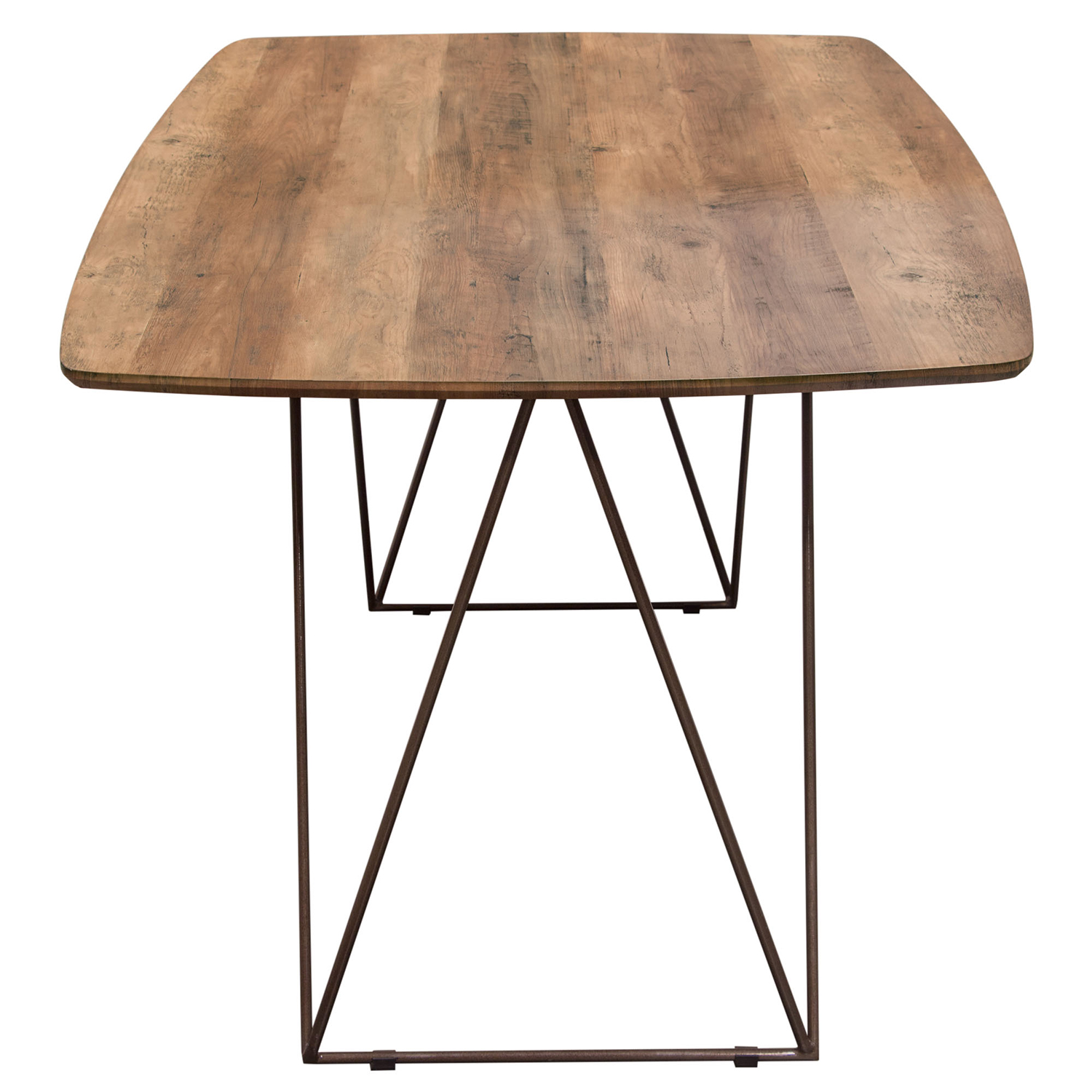 Admirable Star 63 Dining Table W Walnut Finished Top On Raw Metal Legs By Diamond Sofa Machost Co Dining Chair Design Ideas Machostcouk