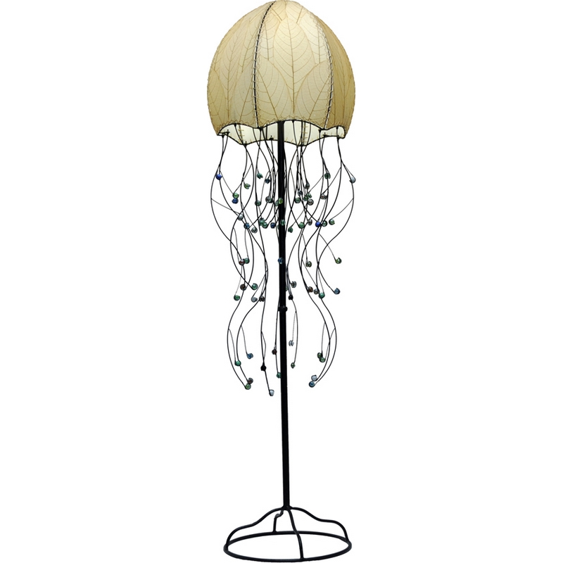 Eangee 399 N Jellyfish Series Floor Lamp In Natural