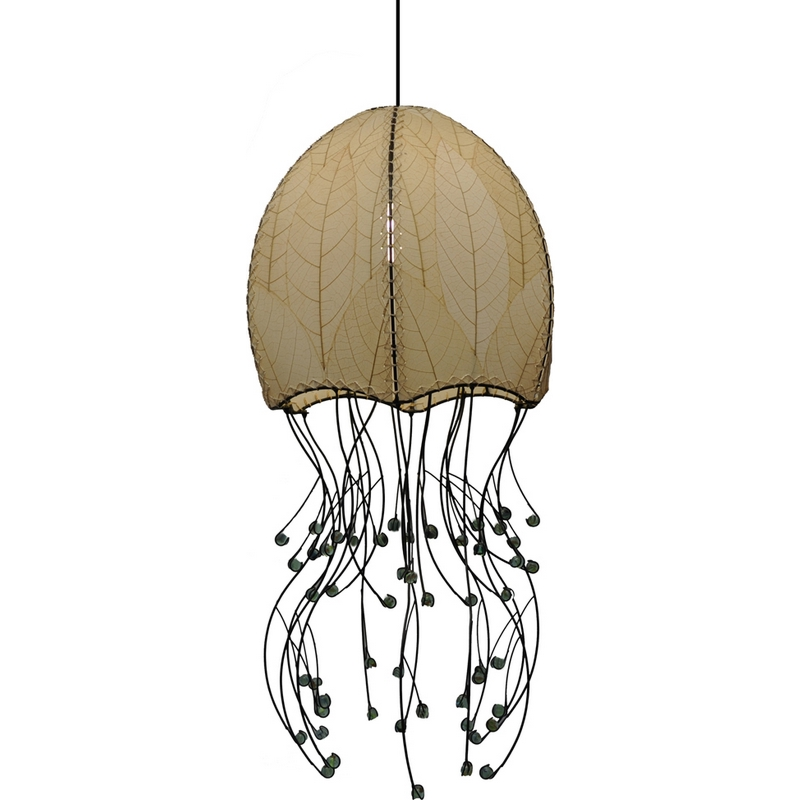 Eangee 525-N Jellyfish Hanging Pendant Lamp In Natural