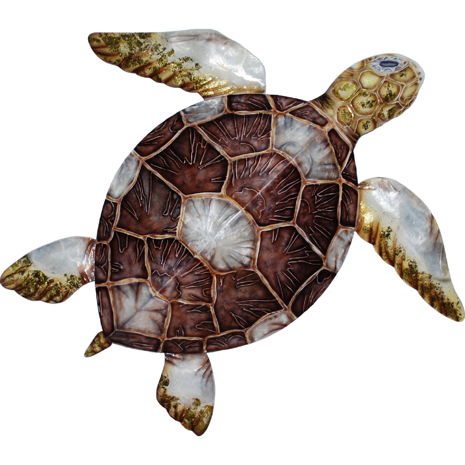 Eangee M8007 Sea Turtle Wall Decor W Brown Checkered