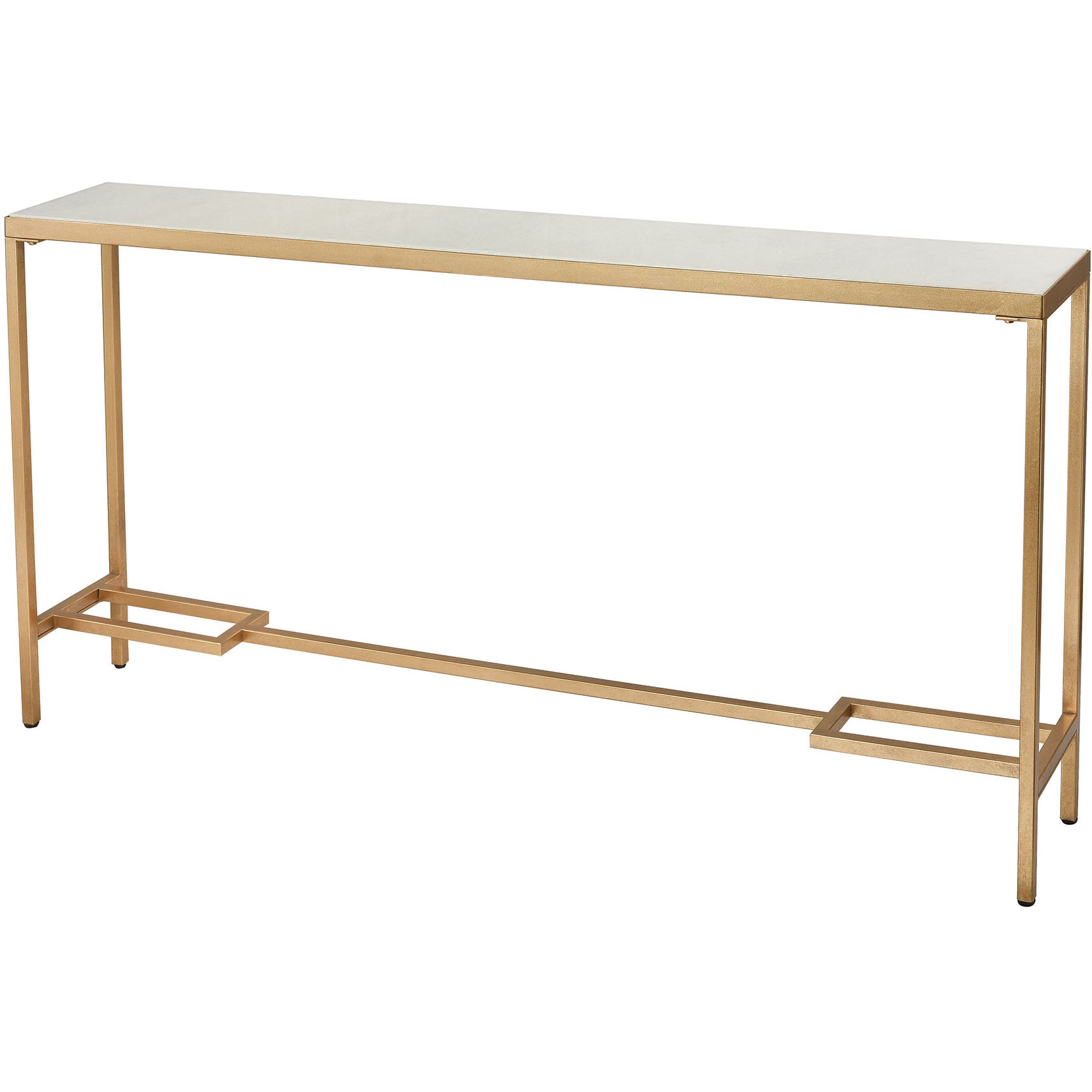 Picture of: Elk Home 1114 315 Equus 60 Console Table In Antique Gold Leaf White Marble