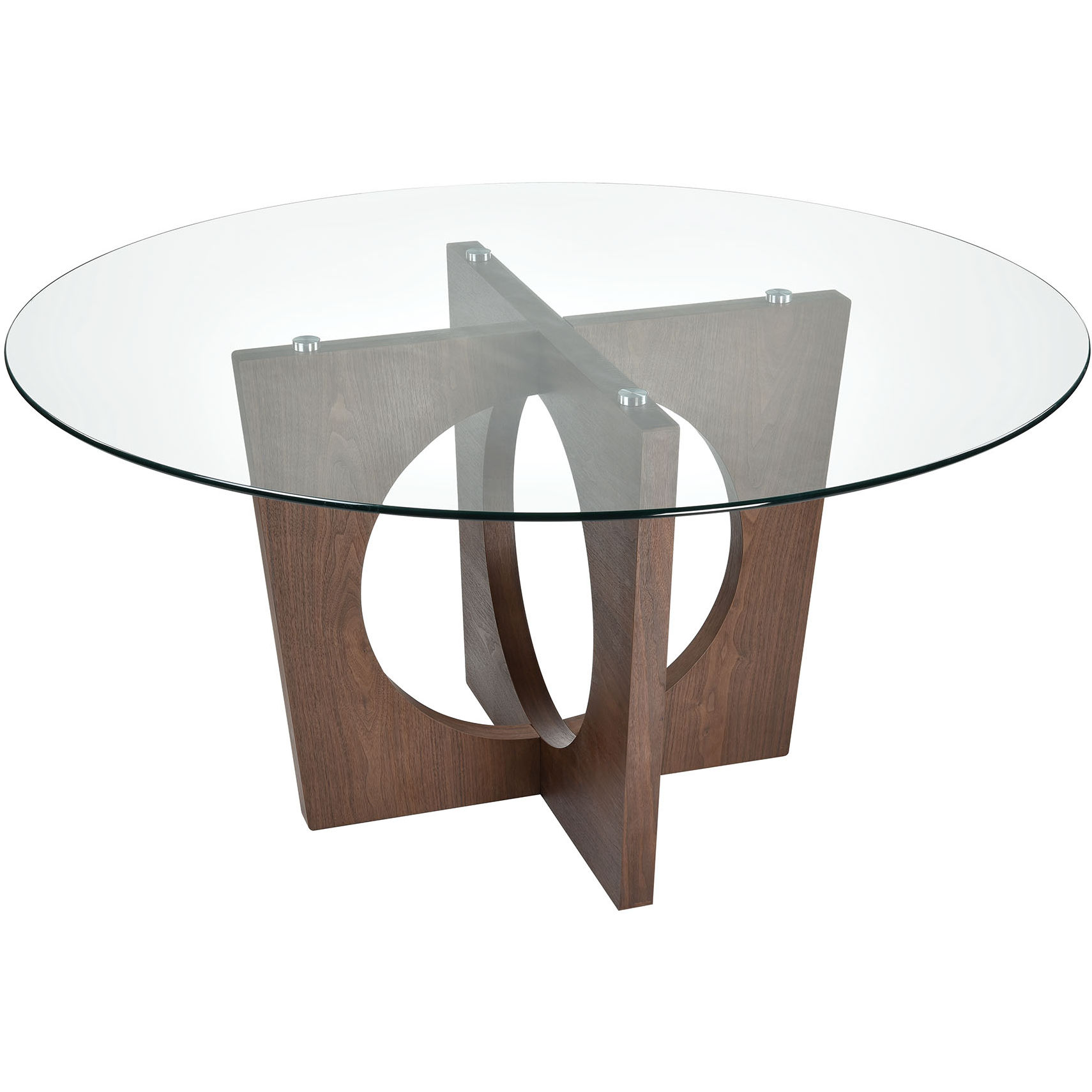 Fabulous Atria 60 Round Dining Table In Walnut Veneer Glass By Elk Home Gmtry Best Dining Table And Chair Ideas Images Gmtryco