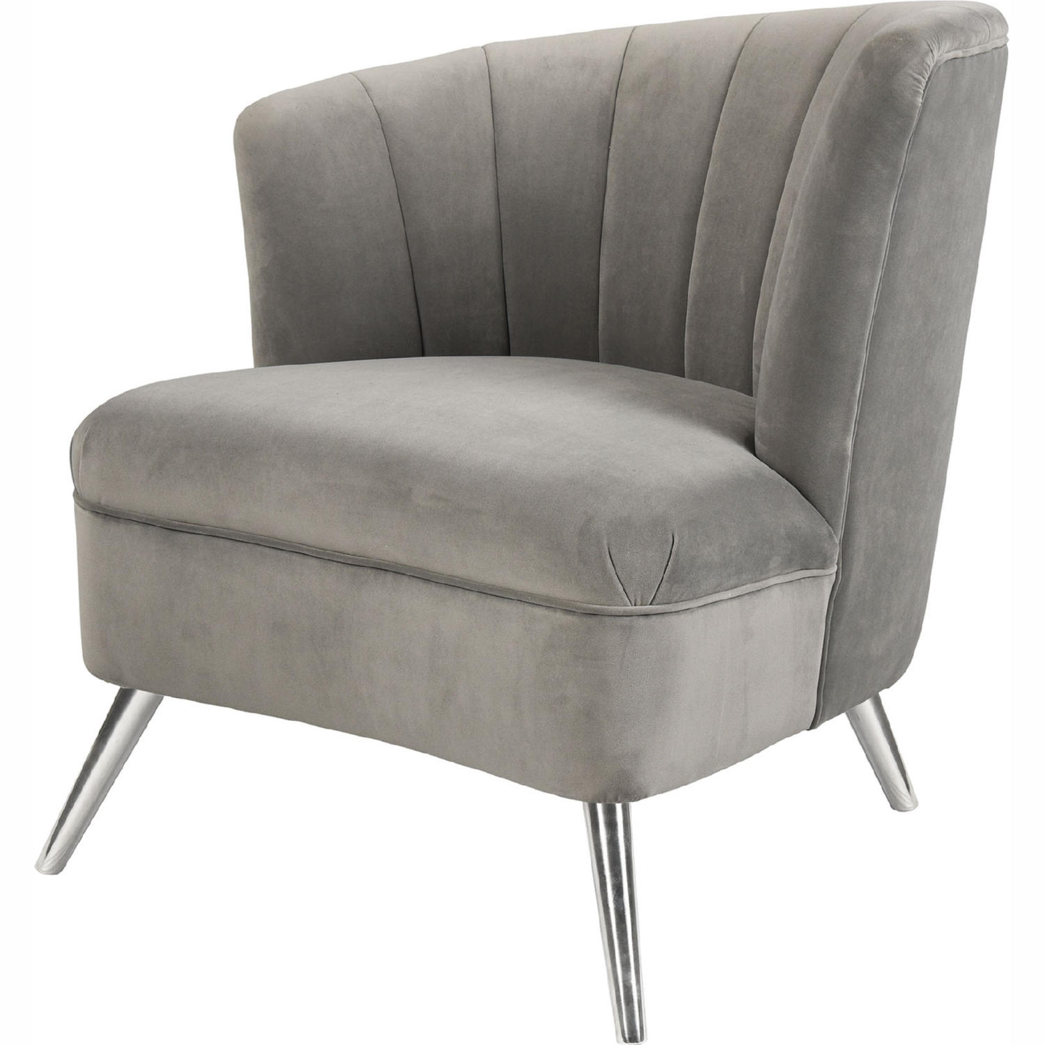 Pleasant Two Faced Right Accent Chair In Grey Velvet Stainless By Elk Home Frankydiablos Diy Chair Ideas Frankydiabloscom