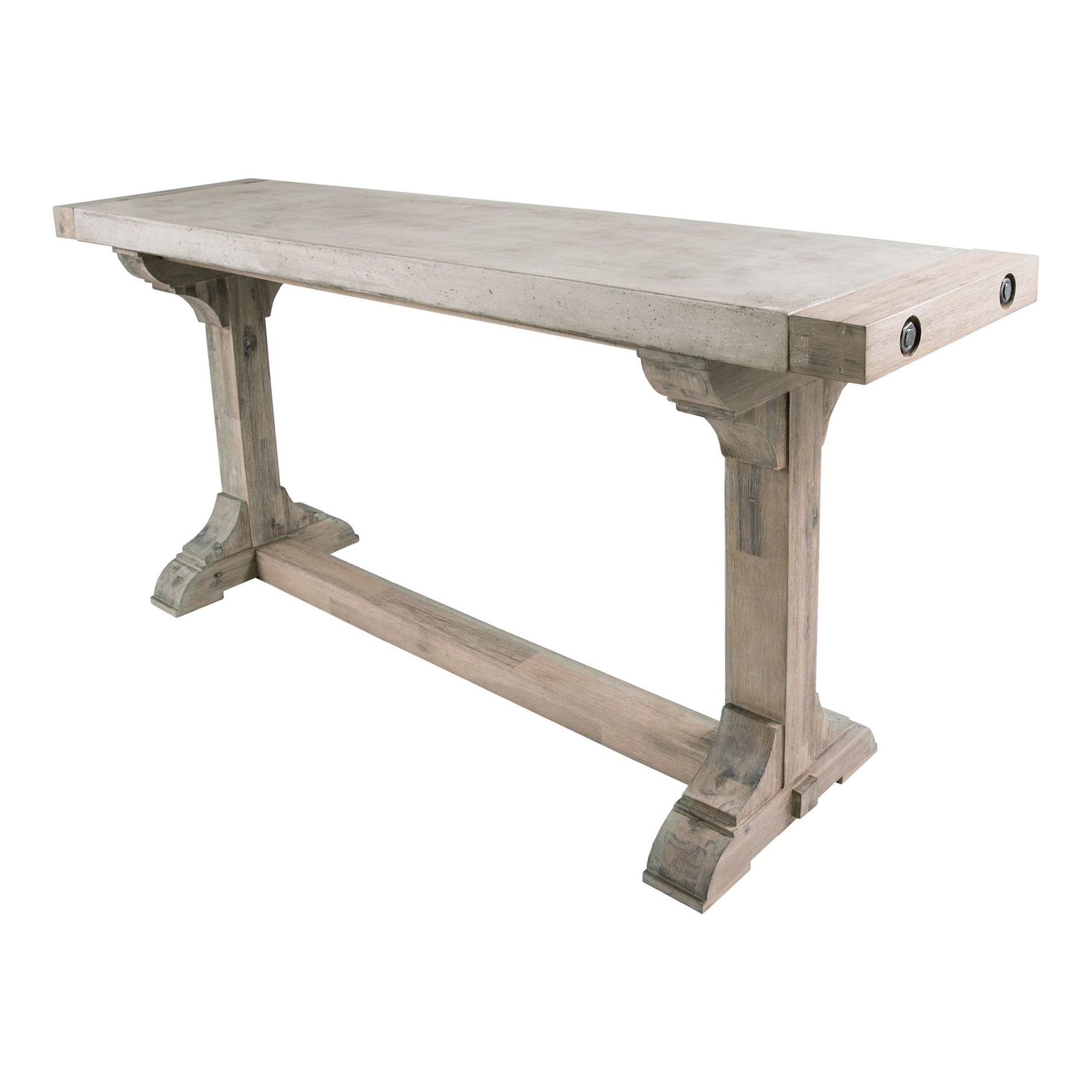 Dimond Home 157 020 Pirate Concrete & Wood Dining Table w Waxed