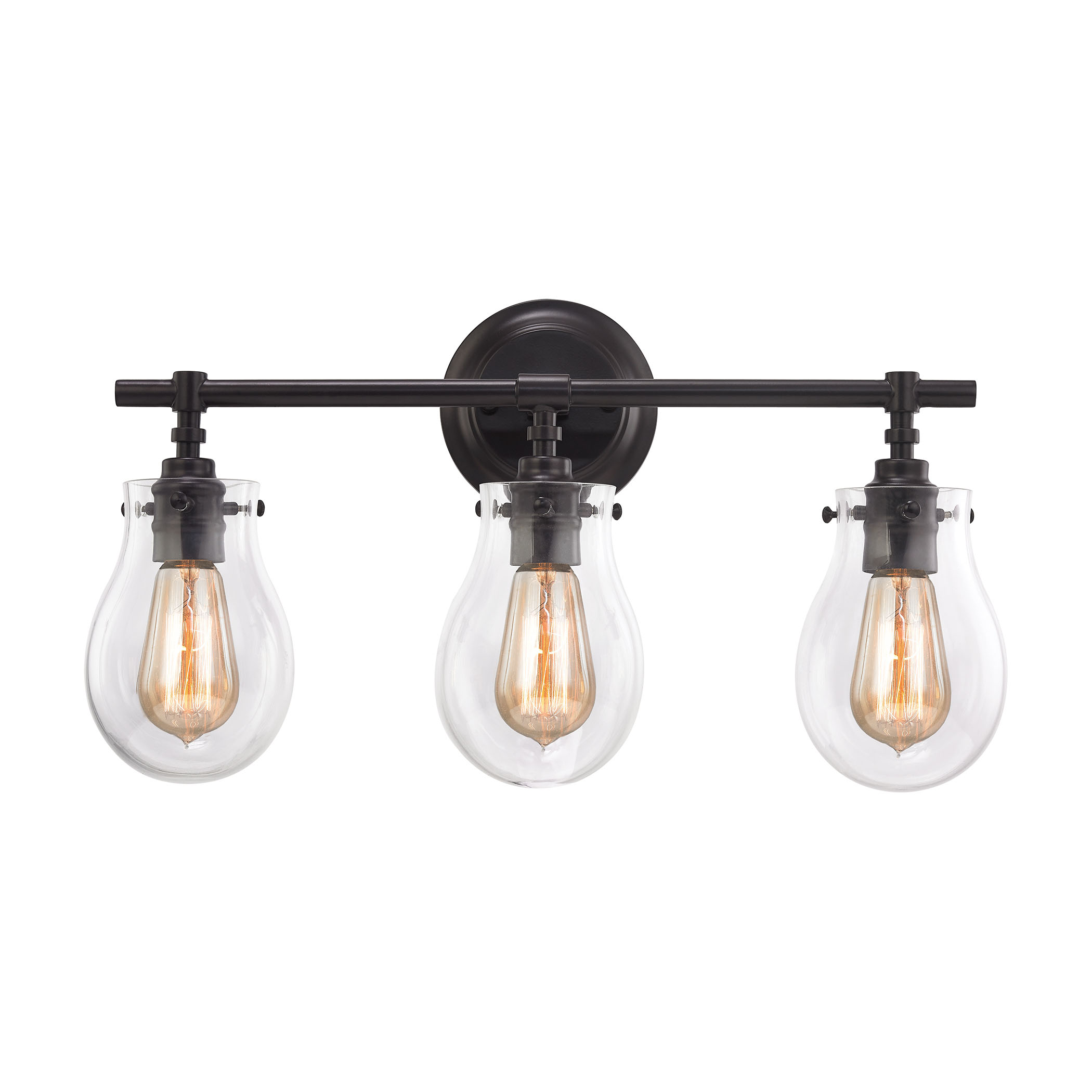 Bathroom Vanity Lights With Clear Glass Shades glass bathroom light fixtures. . 3light antique bronze vanity