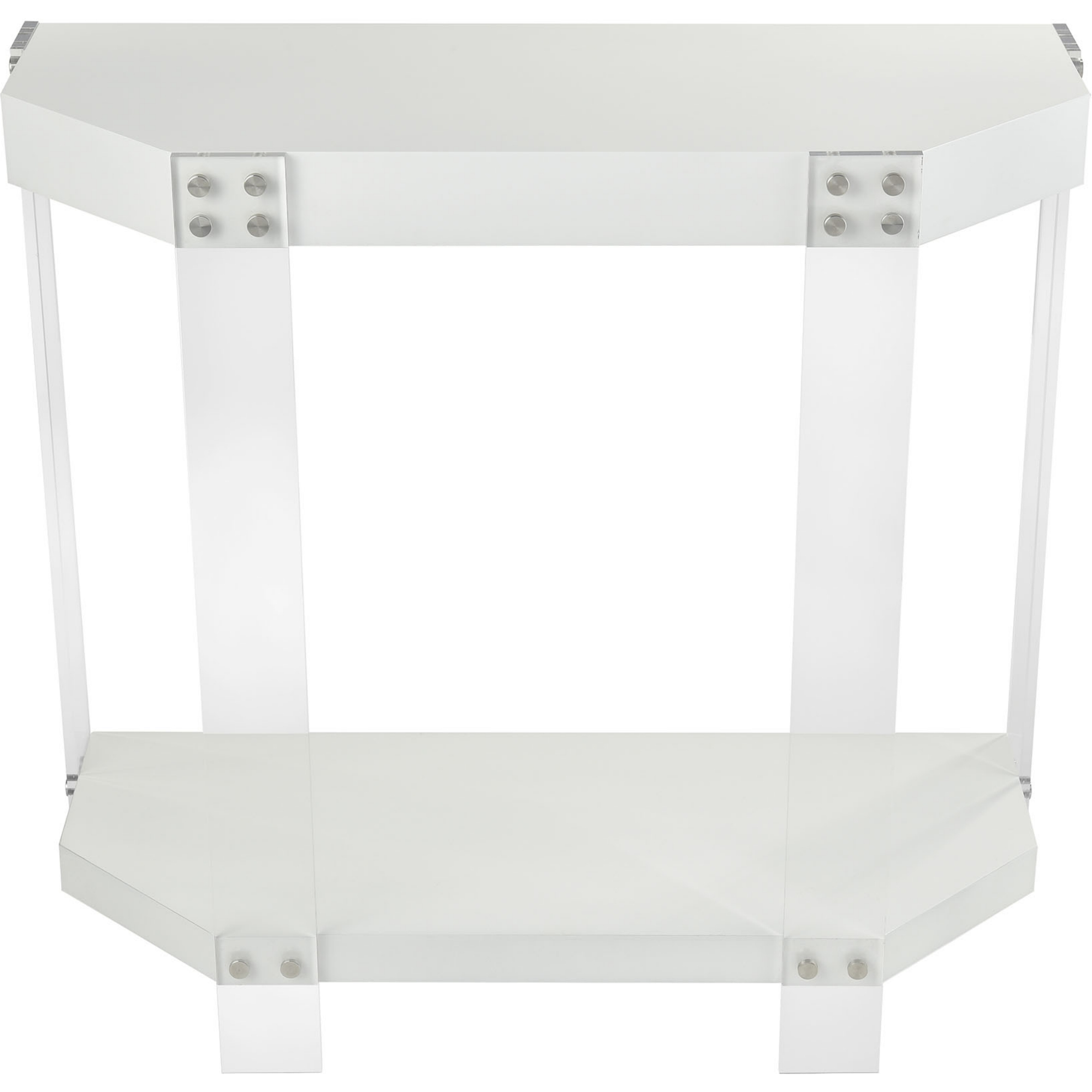 Fantastic Kamchatka Console Table In White Wood Clear Acrylic By Elk Home Spiritservingveterans Wood Chair Design Ideas Spiritservingveteransorg