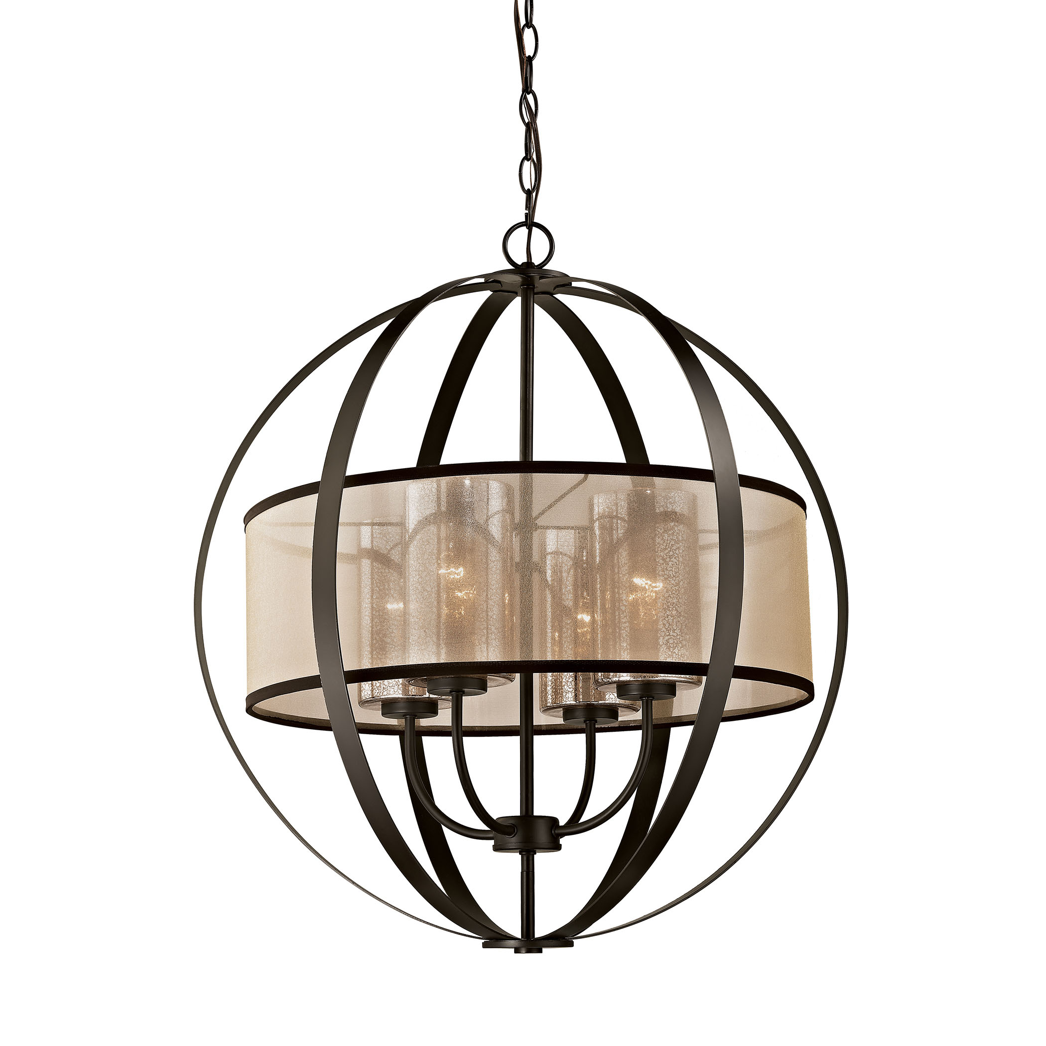 ELK Lighting 4 Diffusion 4 Light Chandelier in Oil Rubbed