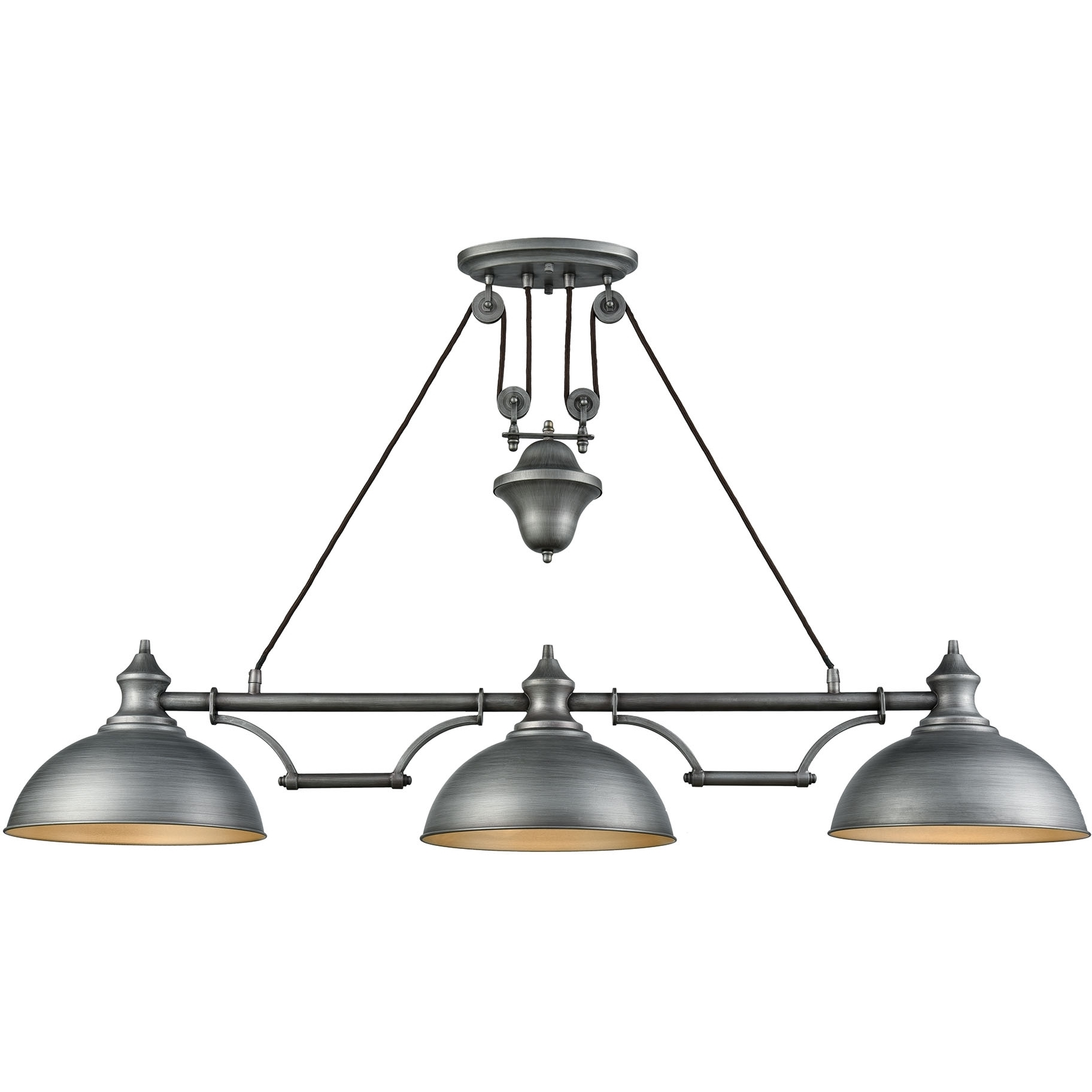 Elk Lighting Modern Farmhouse: ELK Lighting 65163-3 Farmhouse 3 Light Pulldown Island