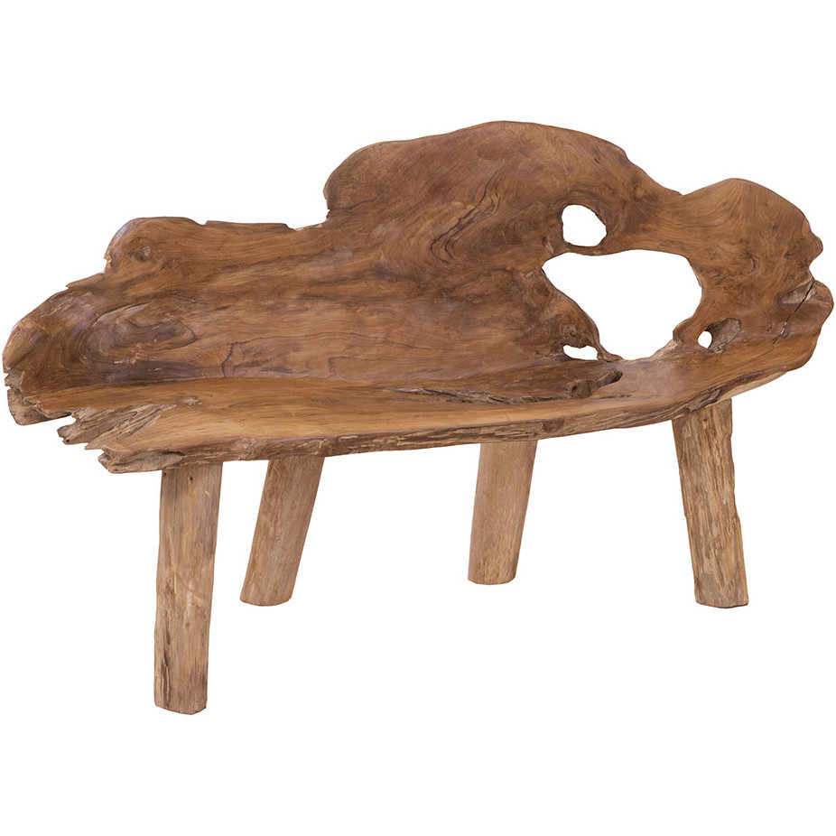 Excellent Teak Root Trunk Bench In Live Edge By Elk Home Caraccident5 Cool Chair Designs And Ideas Caraccident5Info