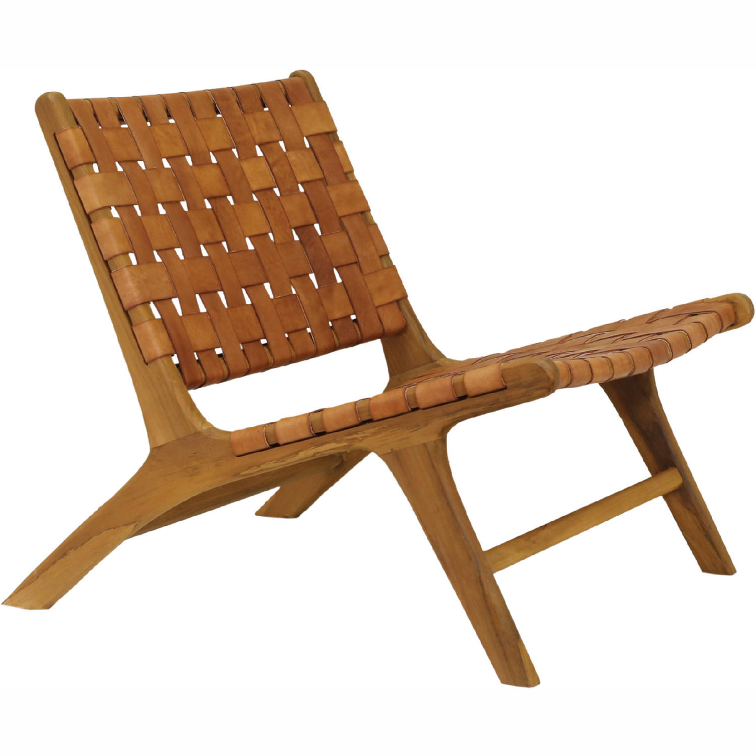 Surprising Light Marty Accent Chair In Brown Leather Teak By Elk Home Machost Co Dining Chair Design Ideas Machostcouk