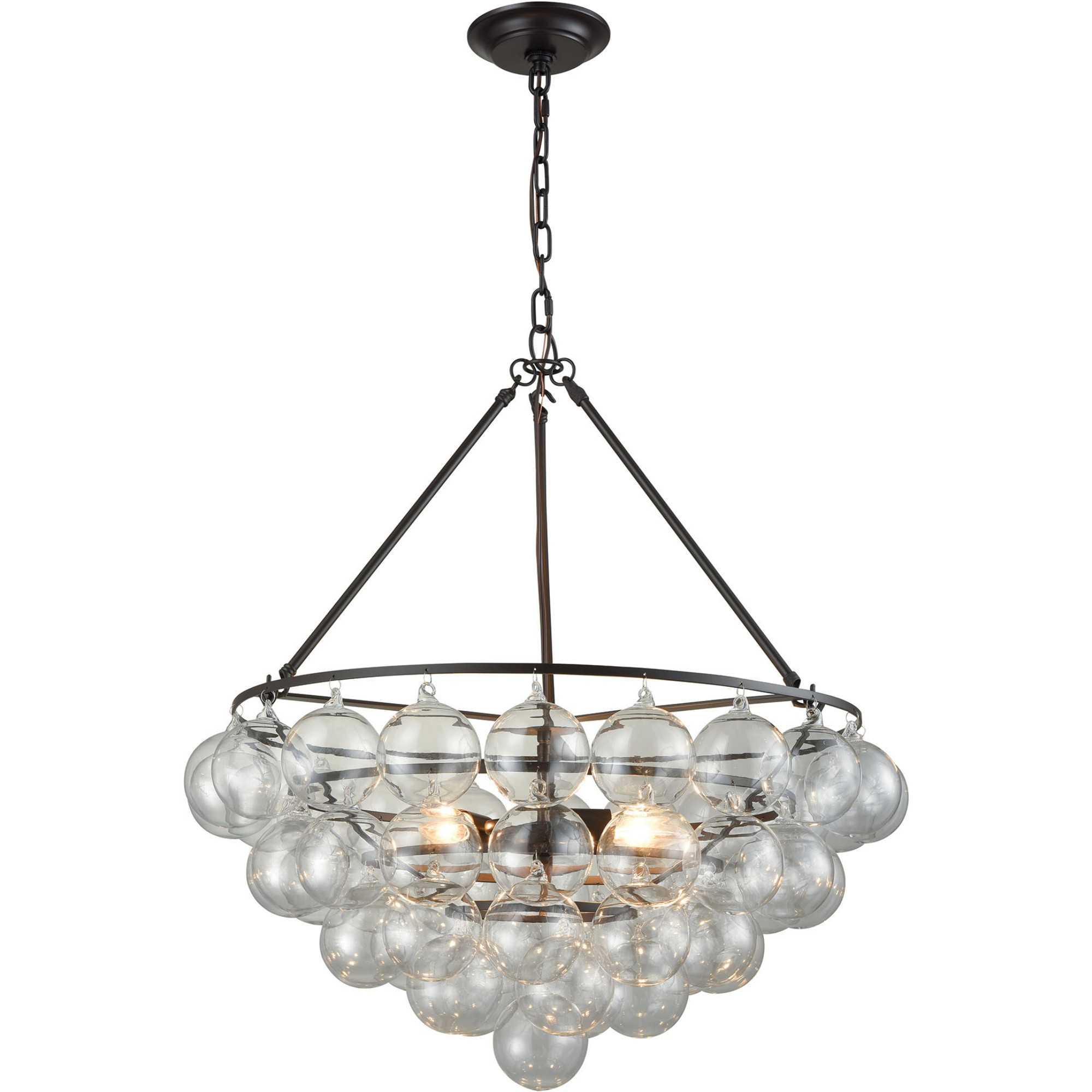 Dimond Lighting D3147 Cuvee Chandelier Oil Rubbed Bronze & Clear