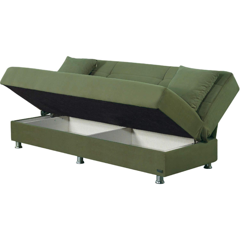 Astonishing Atlanta Armless Sleeper Sofa W Storage In Green Microfiber By Empire Furniture Customarchery Wood Chair Design Ideas Customarcherynet