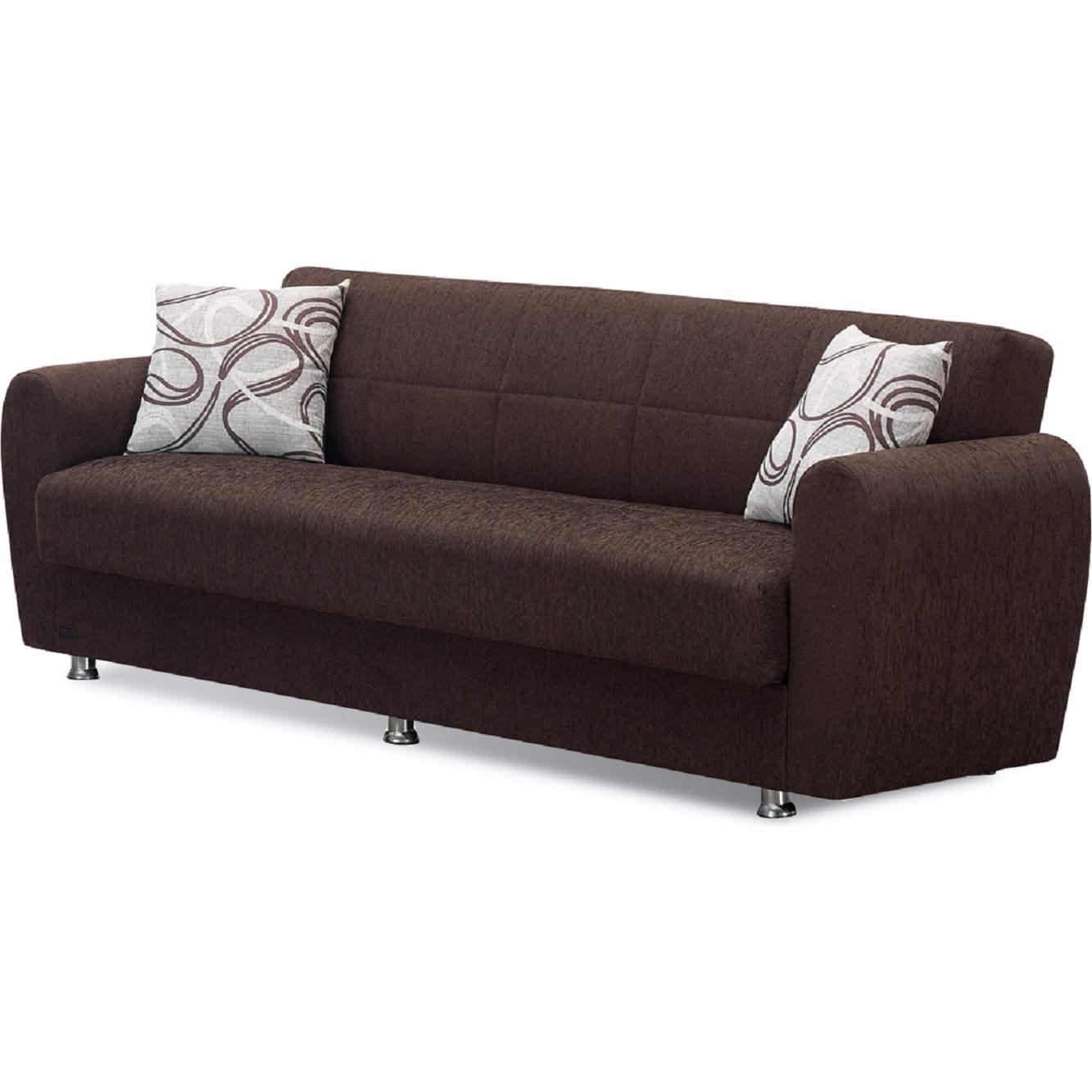 Boston Sleeper Sofa In Dark Brown Chenille By Empire Furniture