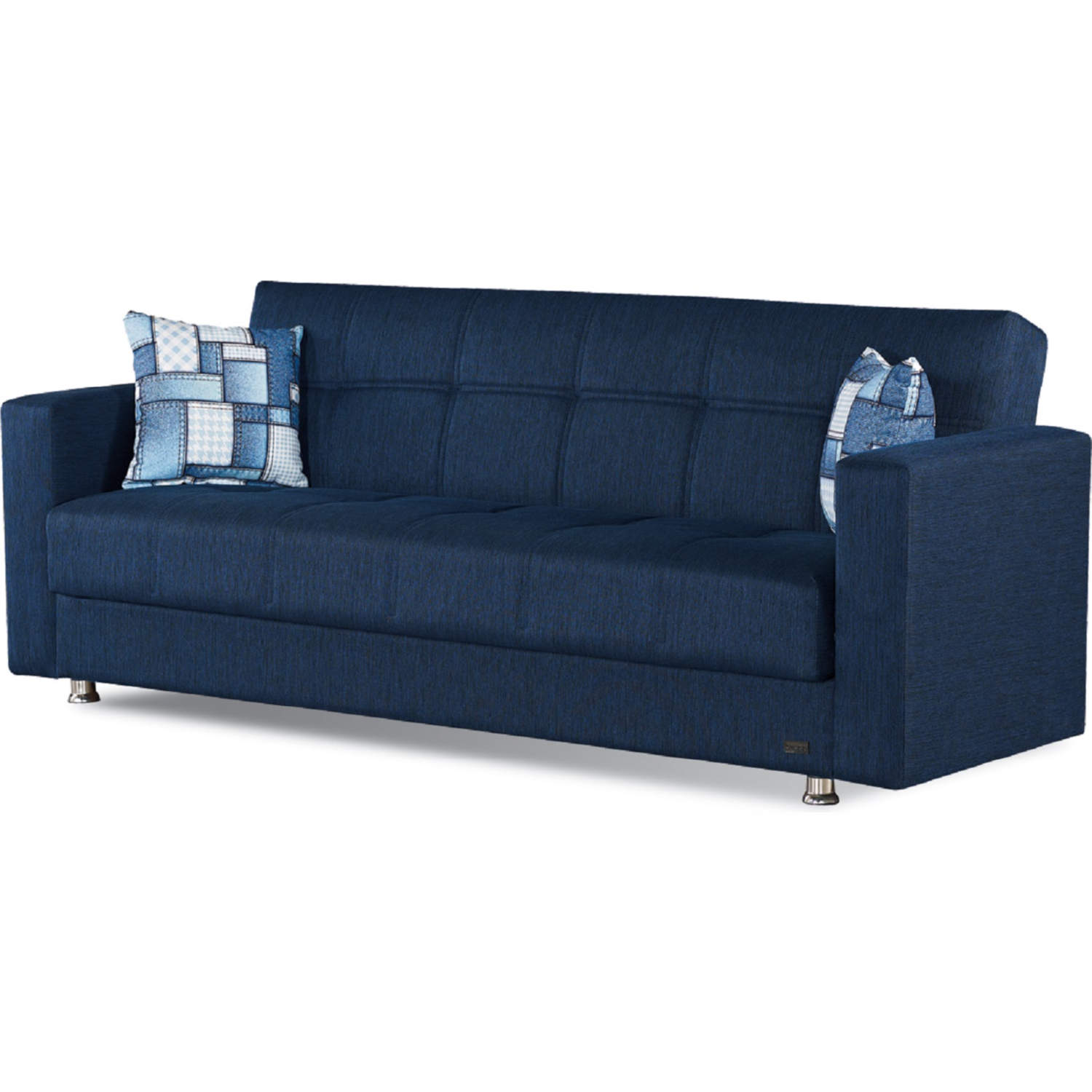Miami Sleeper Sofa In Navy Blue Fabric By Empire Furniture