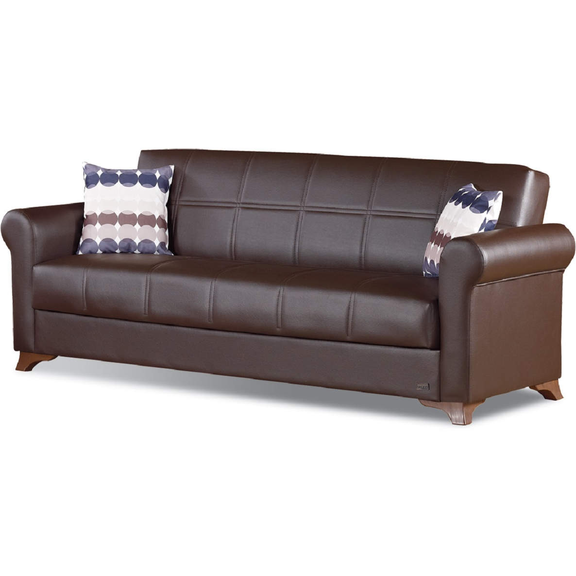 Fabulous Queens Sleeper Sofa In Dark Brown Leatherette By Empire Furniture Unemploymentrelief Wooden Chair Designs For Living Room Unemploymentrelieforg