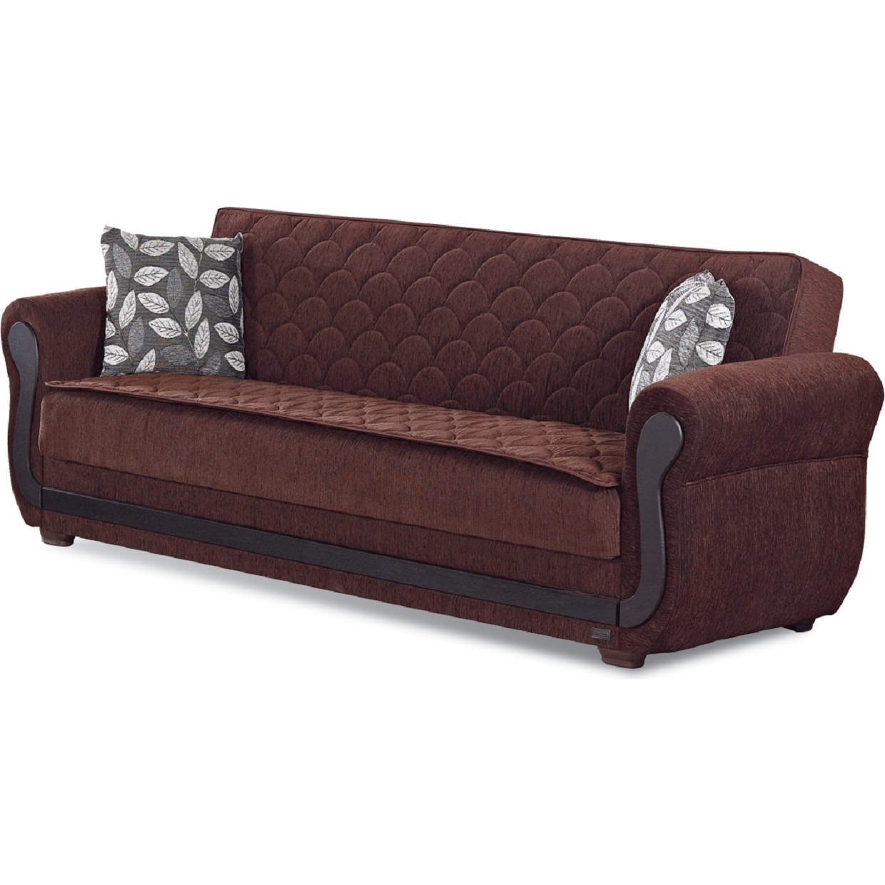 Outstanding Sunrise Sleeper Sofa In Quilted Dark Brown Chenille By Empire Furniture Unemploymentrelief Wooden Chair Designs For Living Room Unemploymentrelieforg