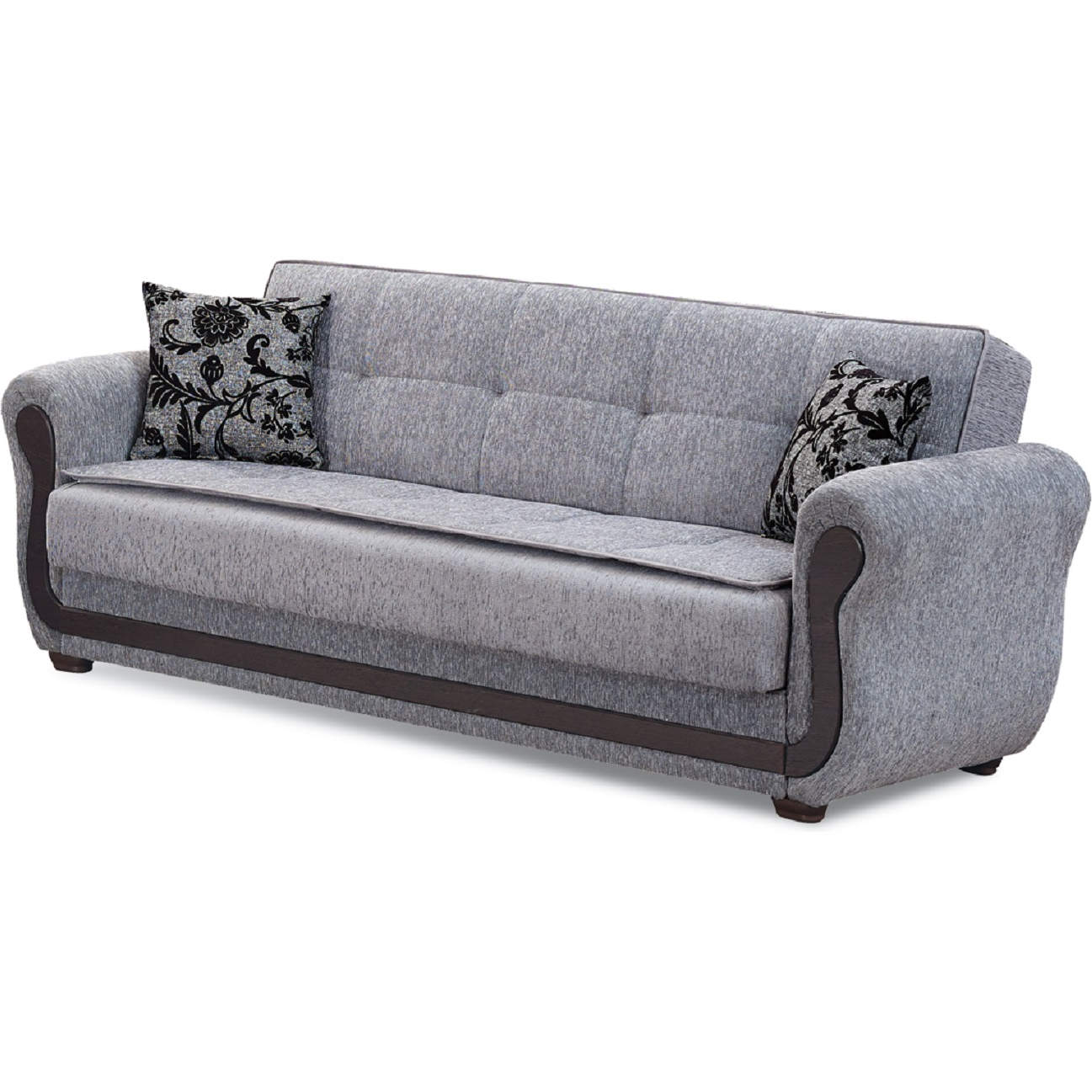 Surf Ave Sleeper Sofa in Light Grey Chenille by Empire Furniture
