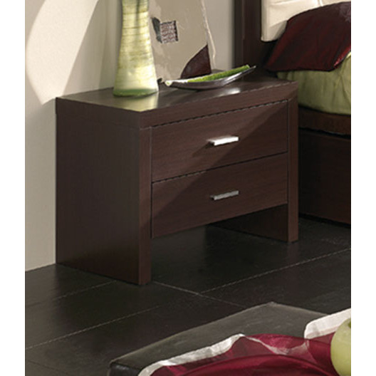 ESF Furniture Imports M77 Night Stand In Wenge Finish
