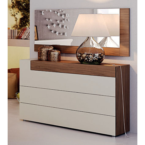 Elena Single Dresser in Creamy Off White by ESF Furniture Imports