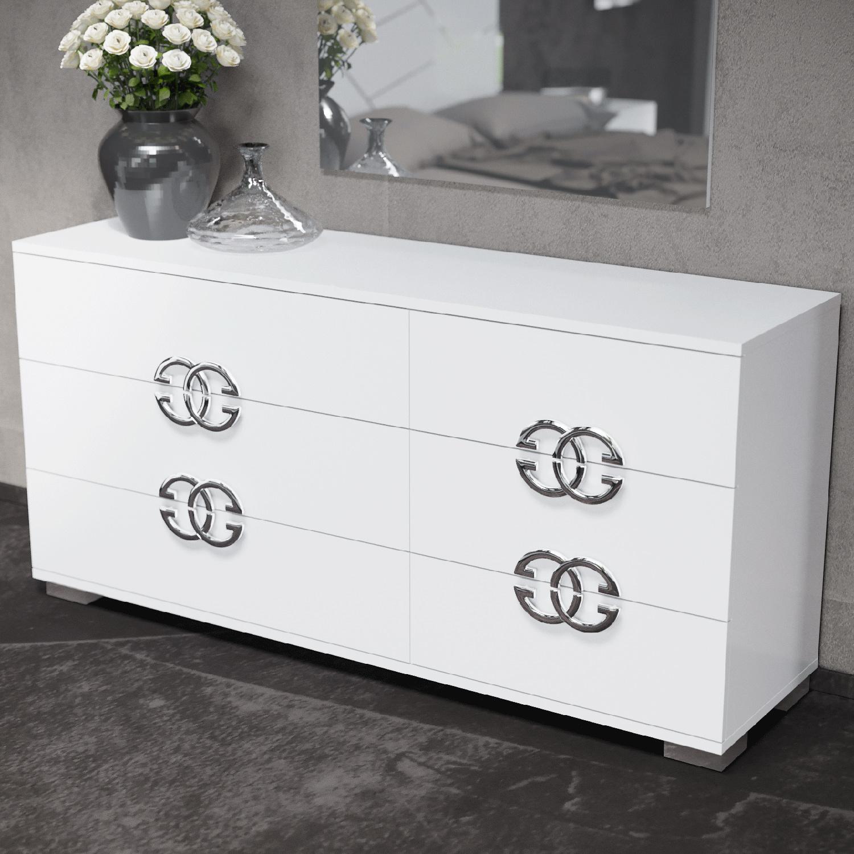 Dafne Double Dresser In High Gloss White