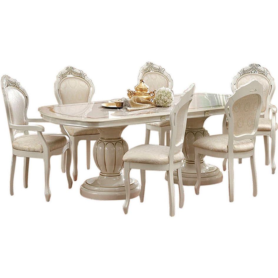 Esf Imports Leonardosidechair Leonardo Dining Chair In Ivory