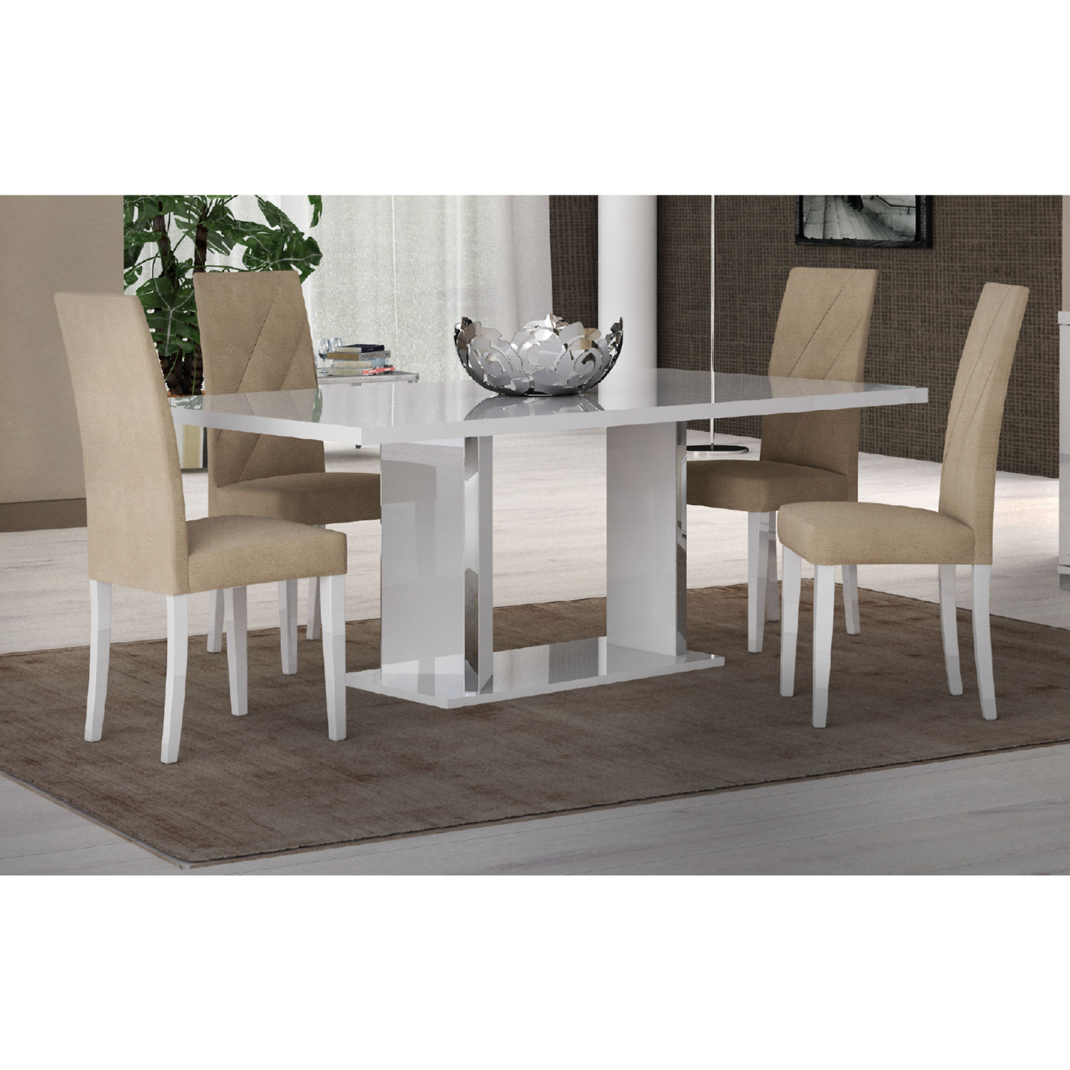 Groovy Lisa Dining Chair In Beige By Esf Furniture Imports Andrewgaddart Wooden Chair Designs For Living Room Andrewgaddartcom