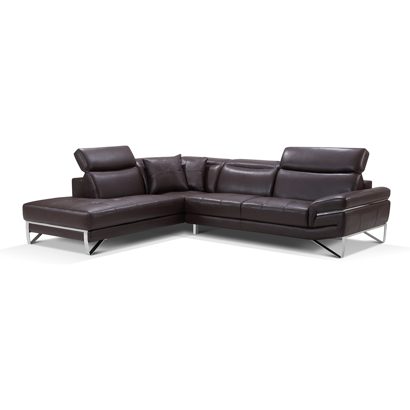 Prime 2194 Sectional Sofa W Left Chaise In Chocolate Leather By Esf Furniture Imports Theyellowbook Wood Chair Design Ideas Theyellowbookinfo