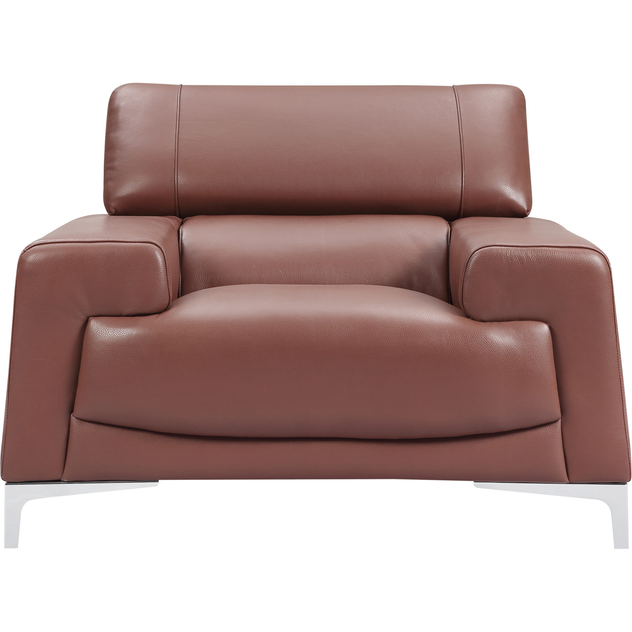 Fantastic 2537 Arm Chair In Saddle Brown Leather By Esf Furniture Imports Creativecarmelina Interior Chair Design Creativecarmelinacom