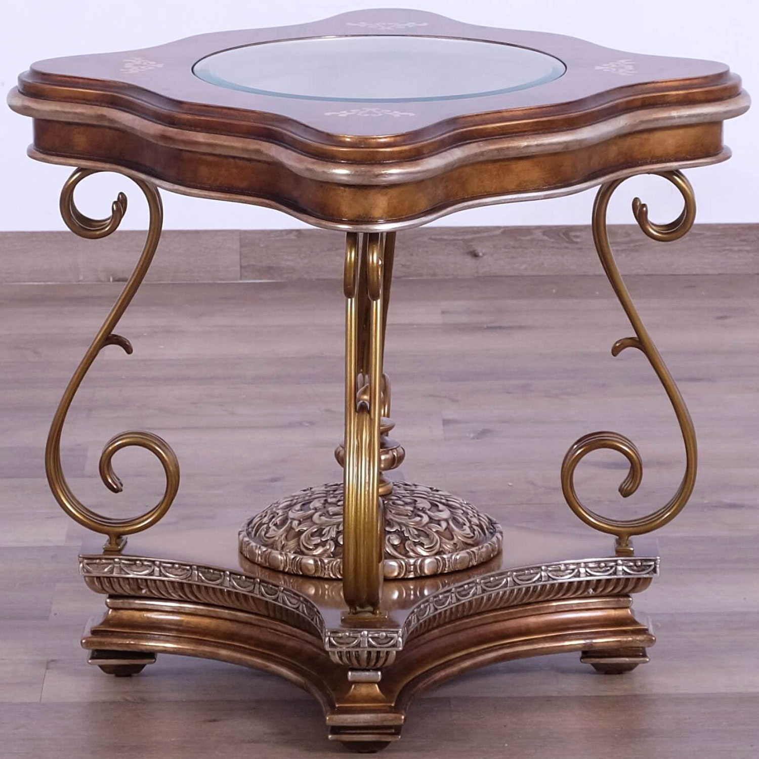 Awesome Rosella End Table In Ornate Bronze Mahogany W Maple Inlay By Grand European Luxury Furniture Gmtry Best Dining Table And Chair Ideas Images Gmtryco
