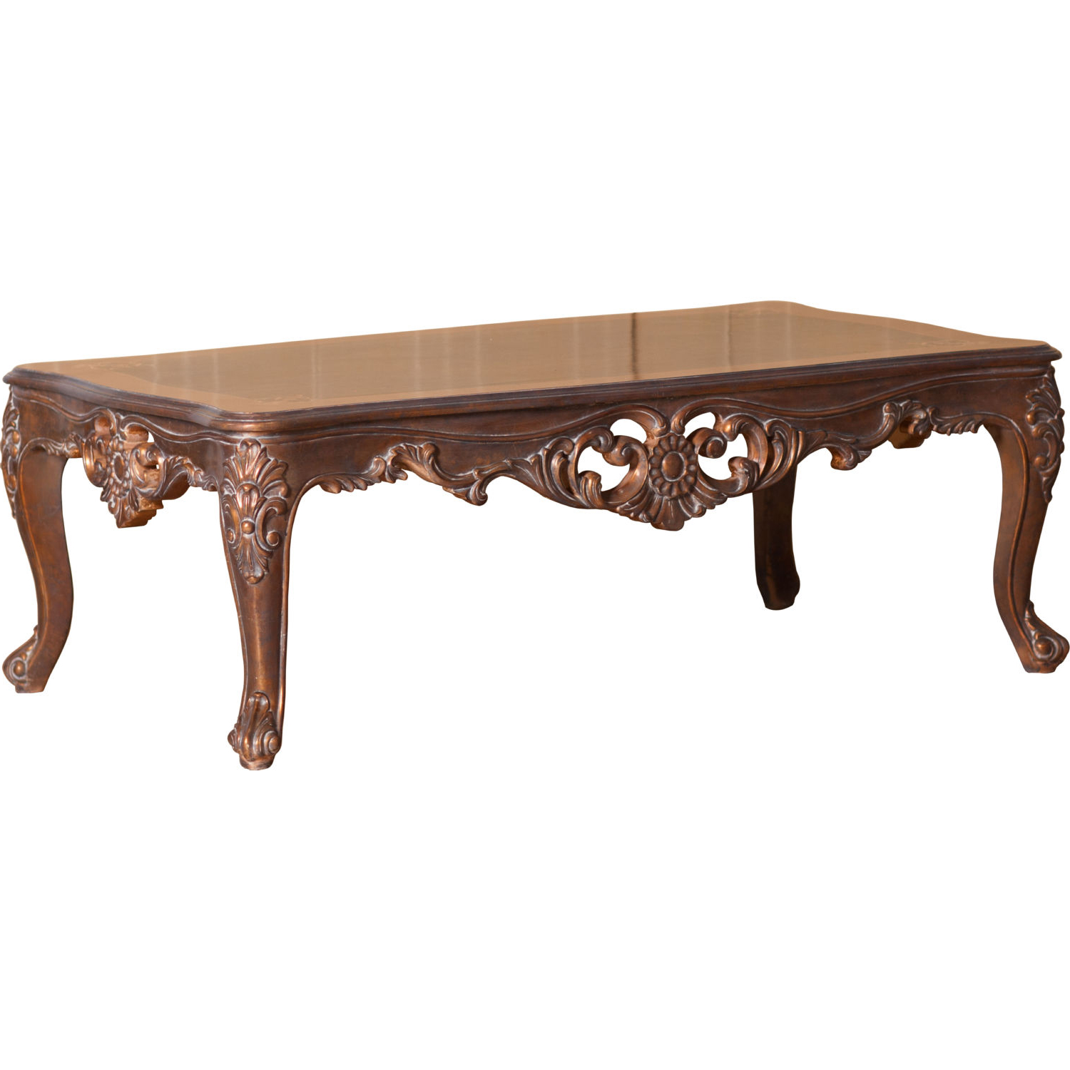 Victorian Coffee Table Furniture: Grand European Luxury Furniture 33091-CT Victorian Coffee