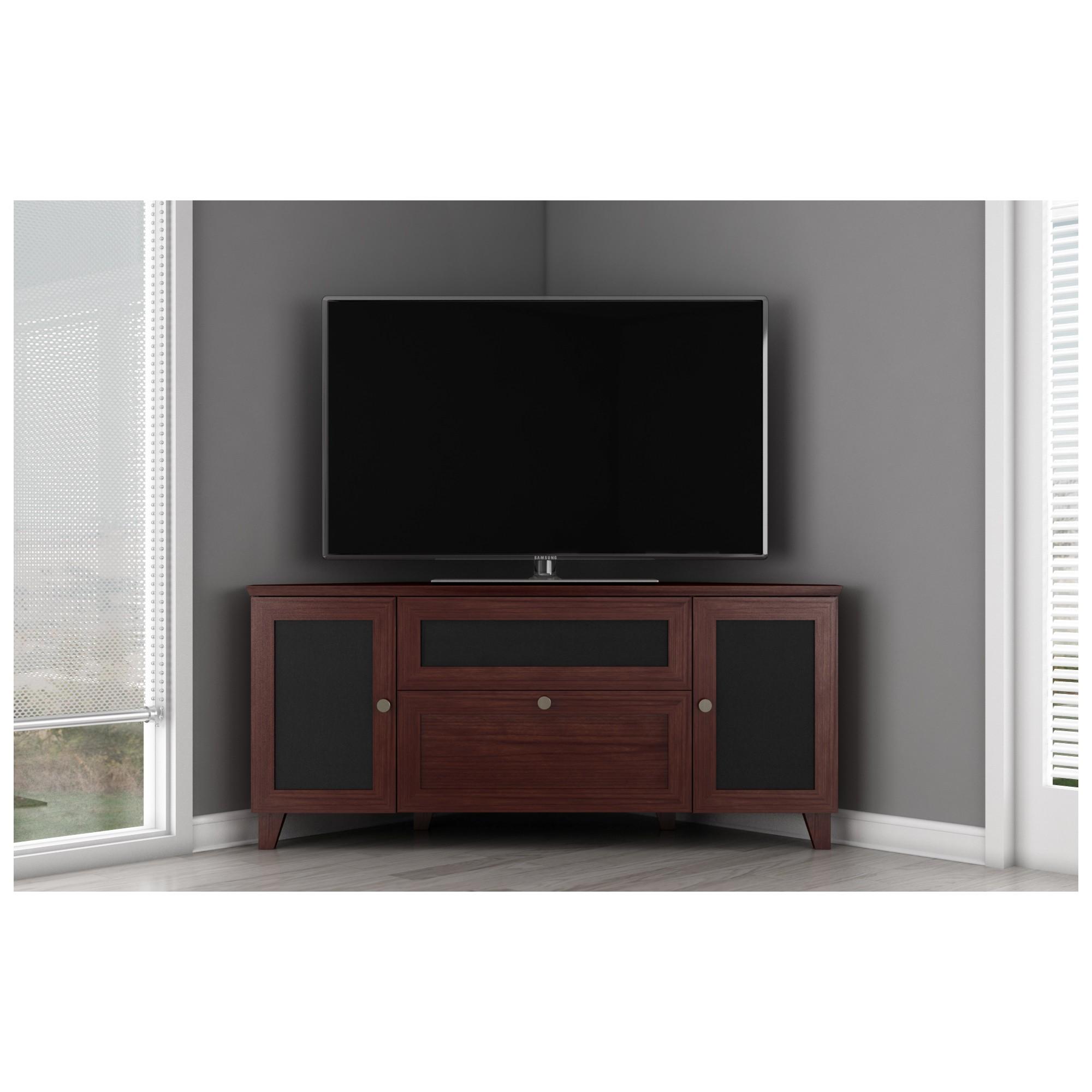 Furnitech FT61SCC-DC 61  TV Stand Shaker Corner Media Cabinet w/ Center Speaker Opening Cherry  sc 1 st  Dynamic Home Decor & Furnitech FT61SCC-DC FT61SCC-DC 61