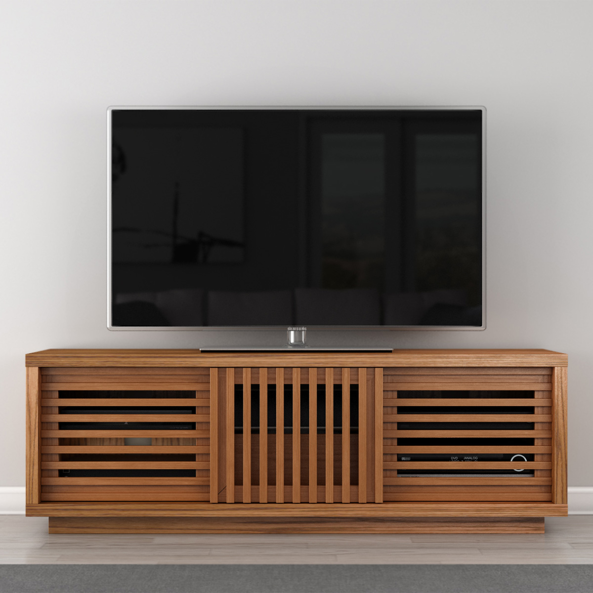 Furnitech Ft64ws Ft64ws 64 Quot Contemporary Rustic Tv Stand