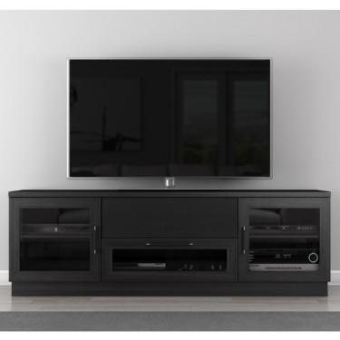 Furnitech Ft72cc Eb 70 Tv Stand Contemporary Media Cabinet W