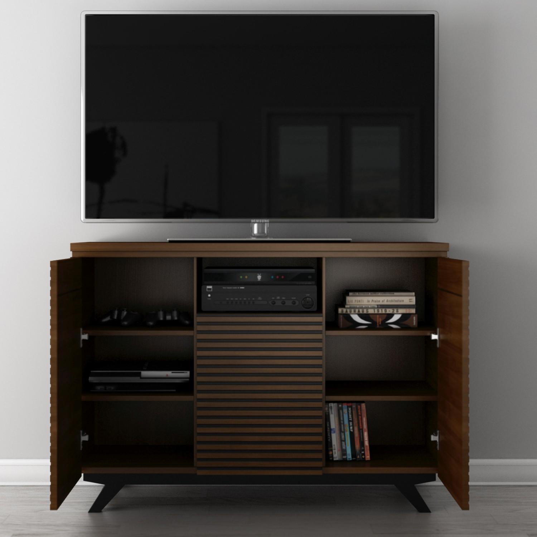 furnitech tangost tango  mid century modern media storage  - tango  mid century modern media storage cabinet tv stand in rich cognac
