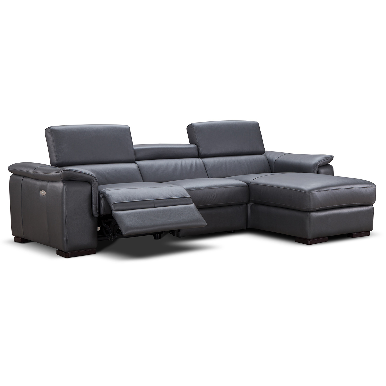 J&M Furniture RHFCHAISE Allegra Right Facing Chaise Italian